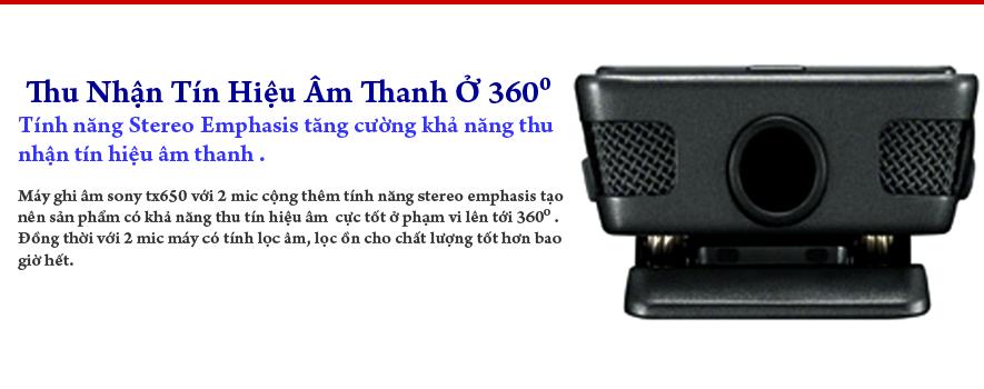 Máy ghi âm Sony TX650 16GB