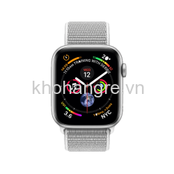 MU6C2 - Apple Watch 4 Sport - 44mm Silver Aluminum/ Seashell Sport Loop (GPS) (Full VAT)