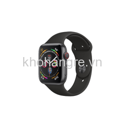 MTV52 - Apple Watch 4 - 44mm Space Black Stainless Steel/ Black Sport Band (GPS+Cellular) (Full VAT)
